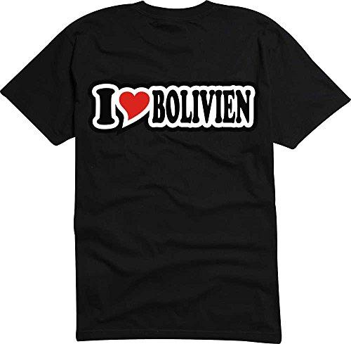 T-Shirt I Love Heart Herren I LOVE BOLIVIEN Schwarz