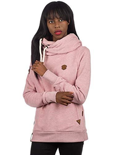 Naketano Damen Kapuzenpullover , Schmutzmuschi Pink Melange, Medium