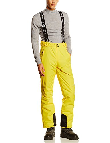 Black crevice - pantaloni da sci da uomo, uomo, skihose, gelb, 50