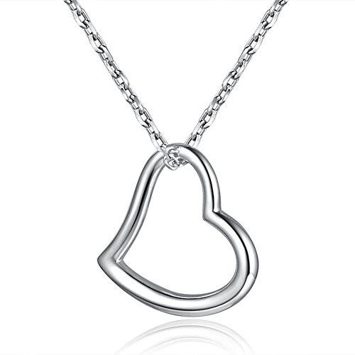 Collana con cuore a forma di cuore collana con cuore a forma di cuore in argento sterling s925 per donna