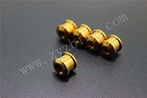 10pcs Titane/TI Boulon et écrou Pédalier Plateau de pédalier pour SRAM/Shimano 6,5mm
