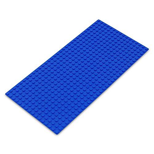 Preisvergleich Produktbild Katara 1672 - Platte 25,5cm x 12,25cm / 16x32 Pins; Große Grund- Bauplatte für Lego, Sluban, Papimax, Q-Bricks, MY, Wilko Blox, Lego Duplo kompatibel; Grund-Platte; Blau für Meer, Wasser, See