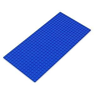 Katara- Placa de Construcción Rectangular 12,7x25,5cm Base Compatible con Lego Classic, Sluban, Papimax, Q-Bricks, Color Azul, 16x32 (1672)