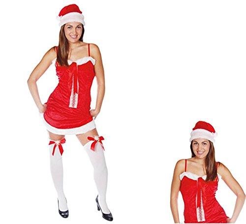 guirma Damen Kostüm Mama Weihnachten Sexy Santa Claus Farbe Rot, Einheitsgröße 42702 -