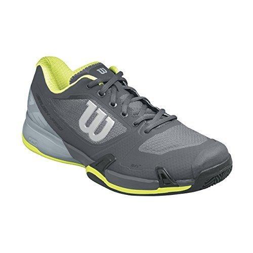 Wilson Rush Pro 2.0 Clay Court, Chaussures de Tennis Homme Gris (Ebony / Monument / Lime Punch)