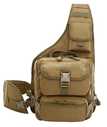 Baymate Unisex Schulter Reiten Fahrrad Camping Tarnung Taktische Umhängetasche Militär Taschen Kaffee