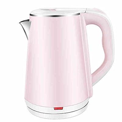 CAIXIA Bouilloire Électrique Chauffe-eau électrique rose chauffe-eau 304 Bouilloire domestique de qualité alimentaire en acier inoxydable Alimentation automatique de 1.8 litres Bouillir rapidement