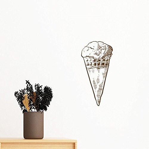 DIYthinker Sketch Ice Cream Süße Illustration entfernbarer Wand-Aufkleber Wand-DIY Tapete Vinyl Room Home Decor Aufkleber 70Cm Elfenbein