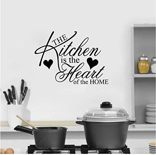 ist das Herzstück der Home Art Restaurant PVC Wandaufkleber Dekor 55.6x39.8cm ()