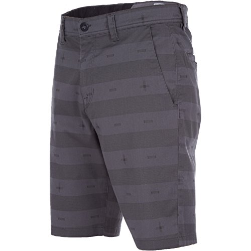 Volcom-print-shorts (Volcom Frickin Mod St Print Short Herren Kurze Hose Grau Pewter, 32)