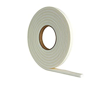 Extra Thick Draught Excluder Strip (3.5m White Rubber Foam for gaps 4-7mm)