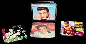Boîte métallique Co. Elvis Presley en métal Dessous-de-verre Avec support