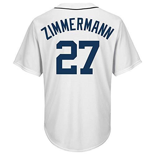 BEMWY Herren/Damen/Jugend_Jordan_Zimmermann_#27_Weiß_Sportbekleidung_Ausbildung_Baseball_Jersey S-XXXL