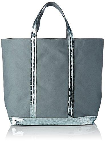 Vanessa Bruno femme Cabas Medium + Coton Et Paillettes Cabas Gris (Nuage) - 18x33,5x49 cm (W x H x L