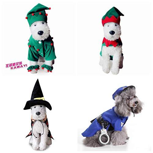 Werse Pet Dog Weihnachts Kleidung Halloween-Kleidung - der Papst - S