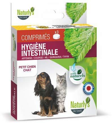 Naturlys Octave - Produit Naturel - Vermifuge chiens et chats naturel Naturly's Octave (3 comprimés - Petits chiens et chats)