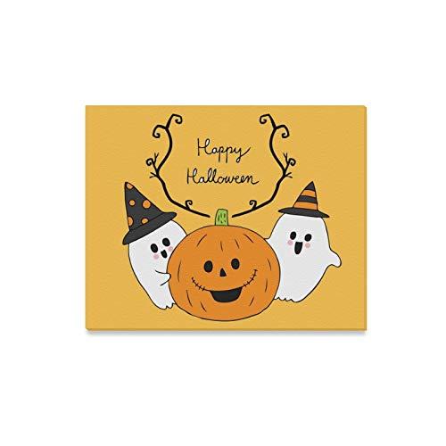 (JOCHUAN Wandkunst Malerei Cartoon Niedliche Halloween Geister Kürbis Drucke Auf Leinwand Das Bild Landschaft Bilder Öl Für Moderne Dekoration Dekor Für Wohnzimmer)