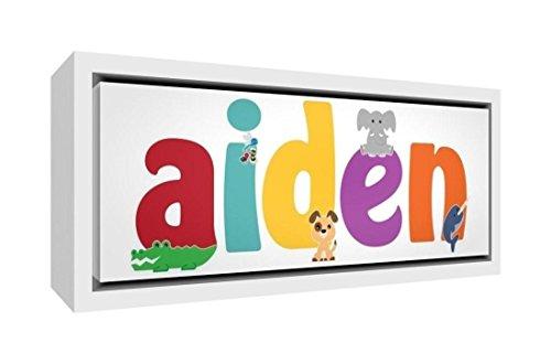 Little Helper Napperon avec Coaster Style Illustratif Coloré avec le Nom de Jeune Garçon Adam