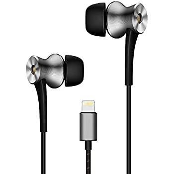 f4e9c5198a7 1MORE Dual-driver n-Ear Earphones In-Ear Digital Noise Cancelling(ANC)  Hi-Res Audio Earbuds with Mic and Remote Control Lightning Connector for  iPhone 7, ...
