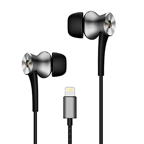 1MORE Dual-driver n-Ear Earphones In-Ear Digital Noise Cancelling(ANC) Hi-Res Audio Earbuds with Mic and Remote Control Lightning Connector for iPhone 7, iPhone 8, iPhone X, iPod