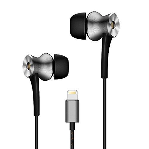 1MORE E1004 Dual-Driver Kopfhörer In-Ear Aktive Geräuschunterdrückung Ohrhörer mit Mikrofon und Fernbedienung Lightning für iPhone iPad iPod (Triple-driver-ohrhörer)