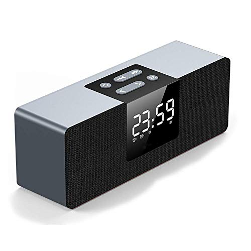 XSCZJL Altavoz Bluetooth Inalámbrico Subwoofer Inicio Portátil Mini Reloj Despertador Pequeño Sonido...