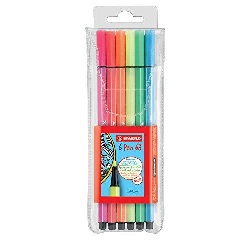 Stabilo Pen 68 Pennarelli NEON COLORS colori assortiti - Astuccio da 6