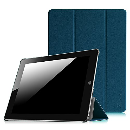 Fintie Apple iPad 2/3/4 Hülle Case - Ultradünne Superleicht Schutzhülle SlimShell Cover Tasche Etui mit Auto Schlaf/Wach und Standfunktion für Apple iPad 2 / iPad 3 / iPad 4 Retina, Marineblau