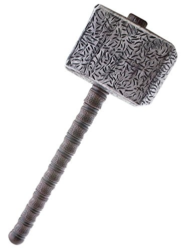 (Hammer zum Donner Gott Kostüm - Tolles Zubehör zu Thor Kostüm Nordischer Donnergott Berserker)