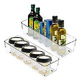 Groß Kühlschrank Aufbewahrungsfach (2Stk) - Transparent löschen Acryl-Kühlbehälter - Küche LagerungBehälter -- Badezimmer Organizer Fach - Gefrierschrank, Schrank und Schubladen Organizer