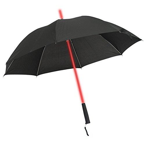 Leuchtender LED Regenschirm mit 7 Farben und integrierter LED Taschenlampe