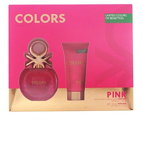 21c18a8e75a4 Benetton Colors Pink Set d Eau de Toilette + Lotion pour Corps 100 ml