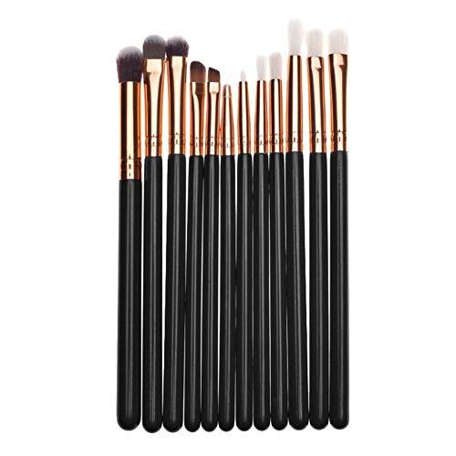 Kosmetik Pinsel Set 12 Stück Make Up Pinsel aus Weichem Kunsthaar, Gesichtspinsel Foundation...