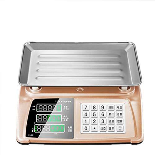 MDMMBB Elektronische Waage Plattform für gewerbliche Plattform, 30 kg, Ladung auf dem Markt für Wäge- und Gemüse, kleine Preise für den Haushalt, hohe Präzision - Imperial Gewerblichen Bereich