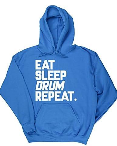 HippoWarehouse Eat Sleep Drum Repeat unisex Hoodie hooded top