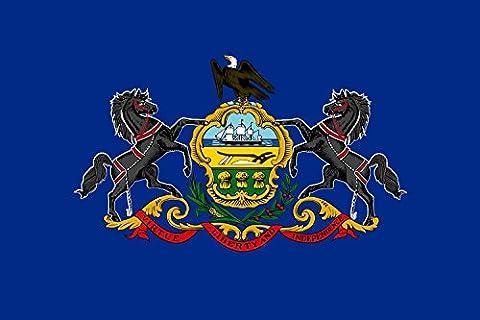 Pennsylvania Flag   landscape flag   0.06qm   0.65sqft  