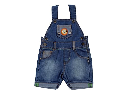 JACKY Baby Jungen Serie RACING TEAM Shirts Hosen Bodyhemd Kapuzenjacke Strampler Sets (86, Jeans-Latzhose kurz)