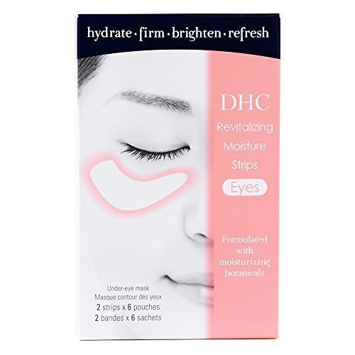 DHC Revitalizing Moisture Strips: Eyes (2 Count), Gel Strip Masks, 6 Applications Each by DHC