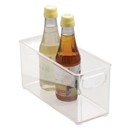 InterDesign Kitchen, Pantry, Refrigerator, Freezer Storage Container - Medium, Clear