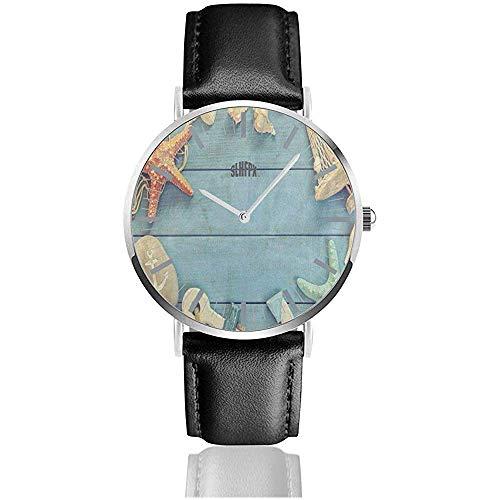 Reloj Náutico Starfish Anchor Boat Shell Relojes de Pulsera Personalizados Cuarzo Acero Inoxidable...