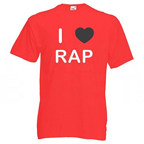 I love Rap - T Shirt Rot