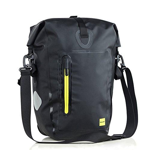 Rhinowalk Fahrrad Rear Shelf Tasche, wasserdicht 25L Bag einseitige Rahmen Paket Fern Mountain Bike Bag, Fahrrad Aufbewahrungstasche Umhängetasche