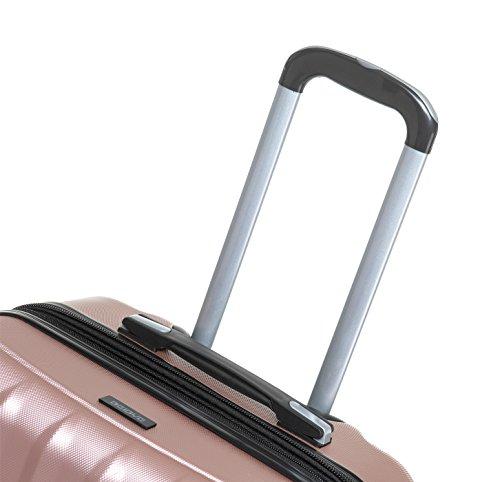 TSA-Schloß 2080 Hangepäck Zwillingsrollen neu Reisekoffer Koffer Trolley Hartschale XL-L-M(Boardcase) in 12 Farben (Rosa, L) - 6
