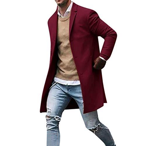 Zegeey Herren Herbst Trenchcoat Winter Button Slim Langarm Anzug Jacke Trenchcoat Top ()