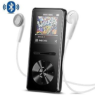 AGPTEK A29TB Bluetooth 4.0 MP3 Player, 8 GB Metal Music Player with Lossless Audio Hi Fi FM Radio, Black