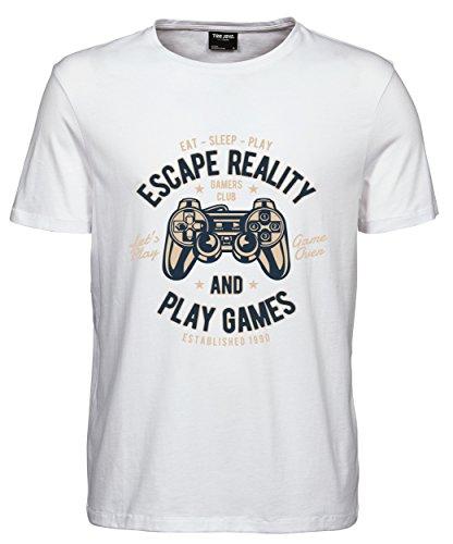 makato Herren T-Shirt Luxury Tee Escape Reality White