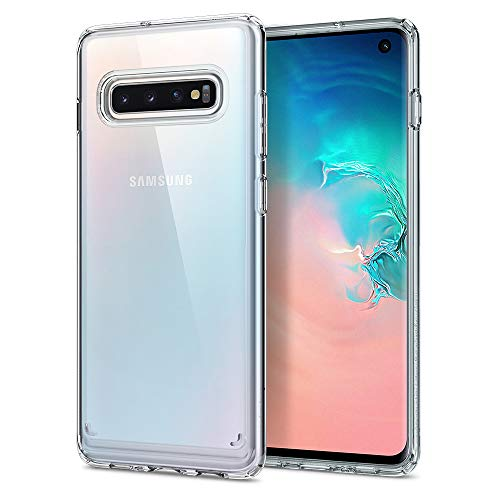 Spigen Ultra Hybrid Cover Galaxy S10, con Tecnologia Air Cushion e Protezione da Goccia Ibrida per Galaxy S10 - Crystal Clear