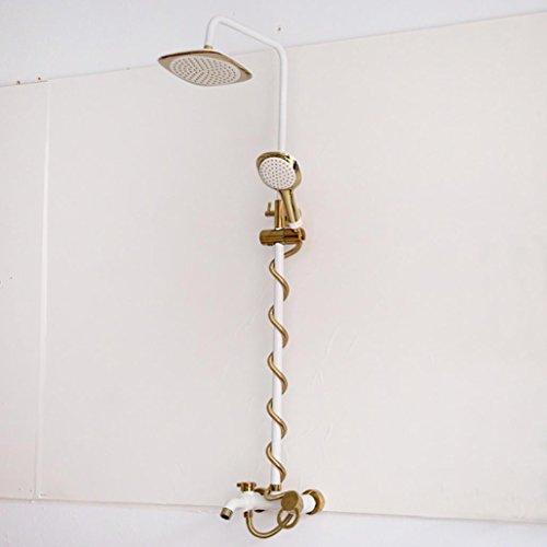 Preisvergleich Produktbild BLYC- Solide Messing Wandhalterung Badezimmer Luxus-Regenmischer Dusche kombiniert mit Ultra-flexible Edelstahl-Schlauch