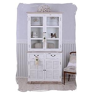 Omas Küchenschrank Buffetschrank Vitrinenschrank Buffet Türen und Schubladen neu hmb112 Palazzo Exklusiv
