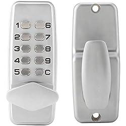 Focket Cerradura de la Puerta, aleación de Zinc 2 - Código de 8 dígitos de Seguridad TurboLock de combinación, con Bloqueo automático, Seguro y Duradero (sin Bluetooth)